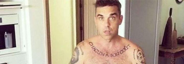 Promi-News des Tages: Robbie Williams zieht blank - schon wieder