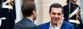 Alexis Tsipras respektiert die Ansichten von Emmanuel Macron.