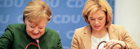 Klöckner: Was Merkel erreicht habe, müssen andere erstmal nachmachen.
