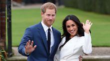 Sehr verliebt: Harry mit seiner Meghan.