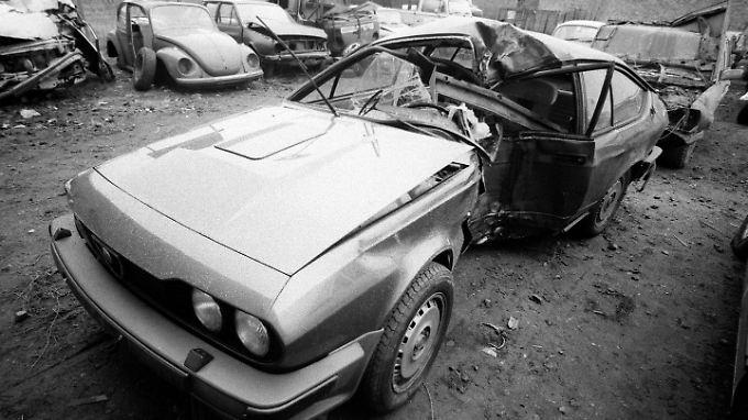 In diesem Wagen starb der Braunschweiger Fußballer Lutz Eigendorf.