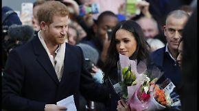 Erster Termin von Meghan und Harry: Frisch verlobtes Prinzenpaar tritt gegen Aids auf