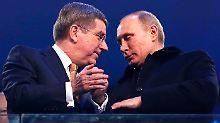 Sotschi 2014: Thomas Bach und Wladimir Putin.