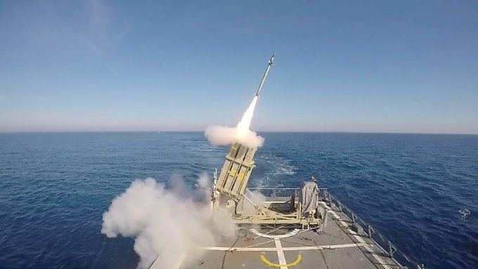 Start einer israelischen Luftabwehrrakete