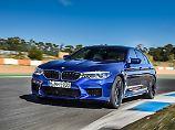 Auf der Rennstrecke kann der BMW M5 seine Fähigkeiten zeigen.