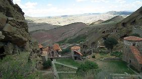 Das Kloster Dawit Garedscha liegt abgeschieden an der Grenze zu Aserbaidschan.