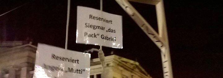 Keine Straftat, sondern Kunst: Mini-Galgen für Merkel und Gabriel dürfen verkauft werden