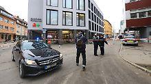 Polizeieinsatz im Zentrum der 120.000-Einwohner-Stadt: Das in Ulm gefundene Paket stellt sich als harmlos heraus.
