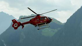 Ein Hubschrauber brachte Max Burkhart ins Krankenhaus.