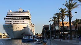 Im italienischen Brindisi macht das Schiff direkt an der Altstadt fest - gut für die Passagiere, aber auch für die Anwohner?