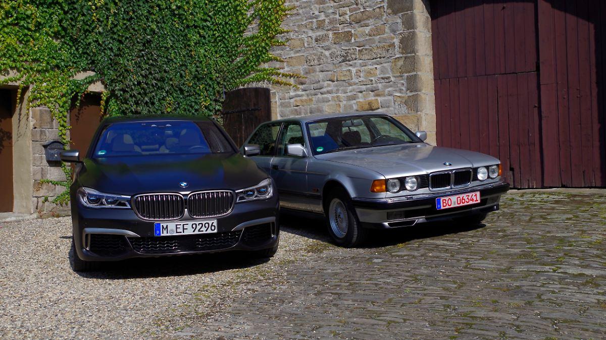 Wie-vor-30-Jahren-BMW-7er-zwei-Zw-lfender-im-Vergleich