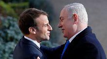 Macron für Zwei-Staaten-Lösung: Netanjahu lobt Friedensbemühungen der USA
