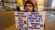 Trauriges Weihnachten: Grenfell-Überlebende warten auf Hilfe