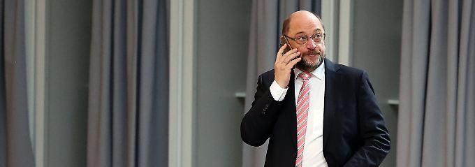 Treffen der SPD-Parteispitze: Schulz empfiehlt Sondierungen mit Union