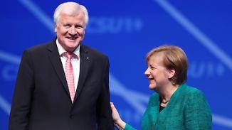 Liebesgeständnis auf CSU-Parteitag: Kanzlerin will Riss in Union kitten