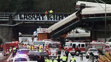 Waggon stürzt auf US-Autobahn: Mehrere Menschen sterben bei Zugunglück