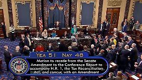"""""""Alles Gute wird uns weggenommen"""": Senat winkt Trumps Steuerreform durch"""