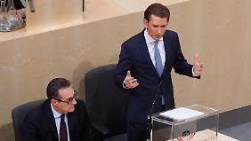 """""""Diese Regierung wird pro-europäisch"""": Kurz wirbt um Vertrauen der EU"""