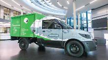 """Der Streetscooter von Mann + Hummel soll Dank eines """"Feinstaubsaugers"""" tatsächlich Emissionsfrei fahren."""