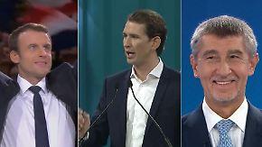 Macron, Kurz und Babis: Drei politische Aufsteiger, deren Werdegang verblüfft