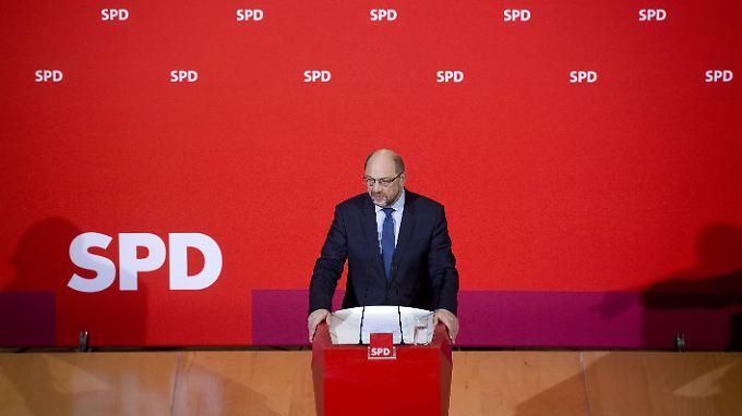 Martin Schulz büßte im Laufe des Jahres erheblich an Zuspruch ein.