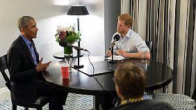 Das Gespräch zwischen Prinz Harry und Barack Obama wurde bereits im September aufgezeichnet.
