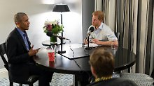 Über Twitter und Weltbild-Kokons: Obama gibt Prinz Harry Radiointerview