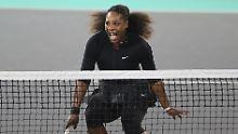 """Comeback auf dem Tenniscourt: """"Mama"""" Williams verliert und ist glücklich"""