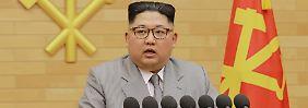 Wünscht allen ein strahlendes Jahr 2018: Kim Jong Un
