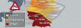 """Tief tankt noch Kraft: """"Burglind"""" bringt ersten Sturm des Jahres"""