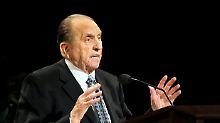 US-Geistlicher wurde 90 Jahre: Mormonen-Präsident Monson ist tot