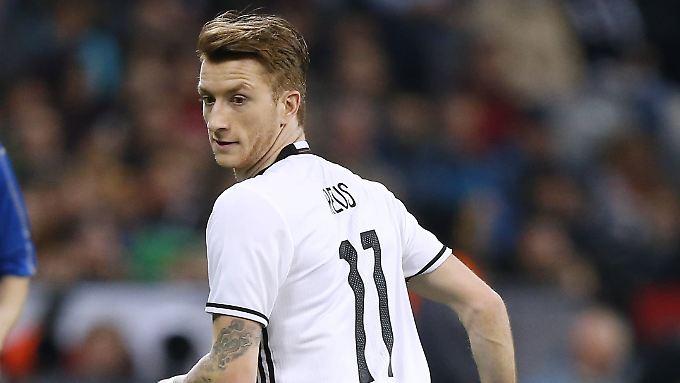 Sein bisher letztes Länderspiel: Marco Reus am 29. März 2016 beim 4:1 gegen Italien in München.