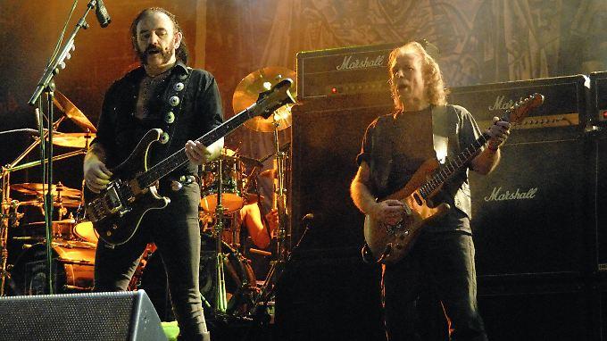 """2007 rockten sie noch gemeinsam die Bühne: """"Fast"""" Eddie Clarke (r.) und Lemmy Kilmister."""