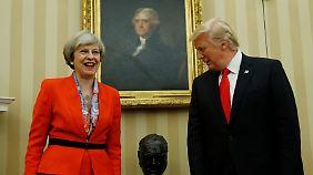 Mays vorschnelle Einladung für Trump hatte ihr in ihrer Heimat viel Kritik eingebracht.