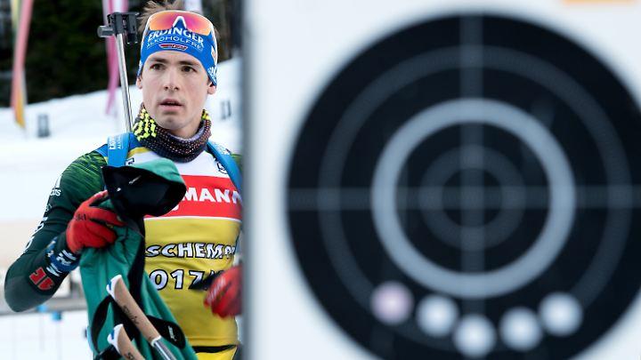 Auch Schlussläufer Simon Schempp konnte den Biathlon-Herren die Podestplatzierung nicht retten.