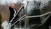 """Für seinen mutmaßlichen """"Drecksloch""""-Kommentar erntet US-Präsident Donald Trump weltweit Kritik."""