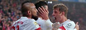 """""""Wir wollten zeigen, dass mit uns nicht zu spaßen ist."""" Bayern-Spaßbremse Thomas Müller erhebt den Erfolg über Leverkusen zum Statementsieg."""
