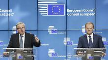 """""""Herzen weiter offen"""": Tusk und Juncker bieten Briten EU-Verbleib an"""