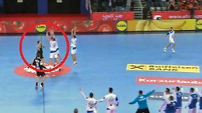 Videobeweis in letzter Sekunde: Diese Regel rettet deutschen Handballern Remis