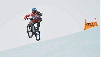 Härteste Abfahrt der Welt: Österreicher bezwingt die Streif - mit dem Mountainbike