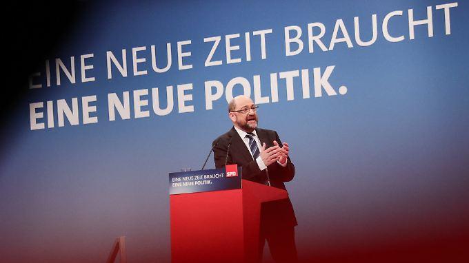 Martin Schulz redet auf dem Sonderparteitag der SPD.