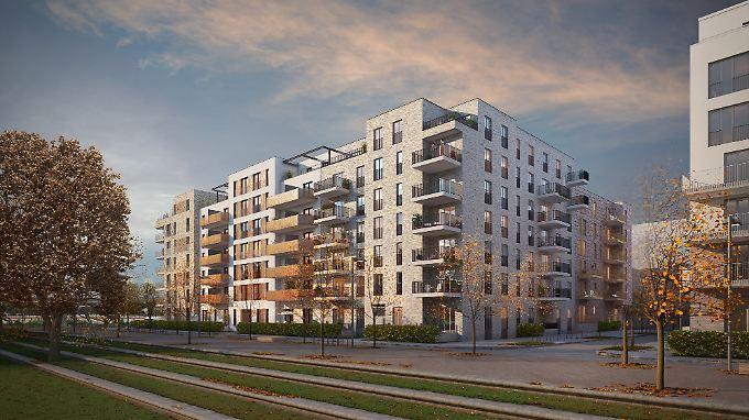 """Wohnungen für den deutschen Immobilienmarkt: Instone entwickelt zum Beispiel Projekte wie etwa das Bauvorhaben """"AltOh!na"""" in Hamburg (Grafik)."""