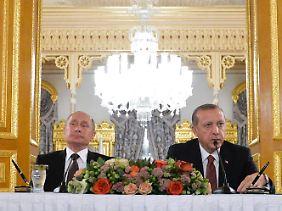 Machtpolitiker: Wladimir Putin und Recep Tayyip Erdogan.