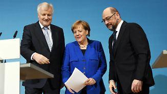 Merkel, Schulz, Seehofer: Drei Angeschlagene, die regieren wollen