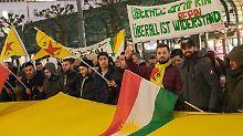 Mehrere Demos in Deutschland: Kurden protestieren gegen Syrien-Offensive