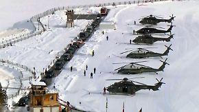 Scharfschützen im Schnee: Trumps Heli-Konvoi landet in Davos