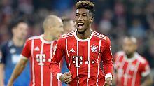 Der dritte Streich: Kingsley Coman hat just für den FC Bayern ein Tor geschossen.