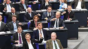 AfD-Fraktion bei der konstituierenden Sitzung des Bundestags.