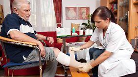 Auch in der Wundversorgung gibt es noch Besserungsbedarf.