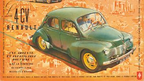 Werbung für den Renault 4CV.